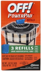 S C Johnson Wax 02884 Off 3 Pack Powerpad Lamp Lantern